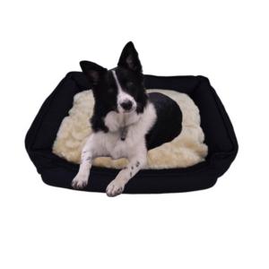 Hundeseng hundekurv polstret SORT store hunde
