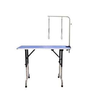 Hunde trimmebord stor højdejusterbart BLÅ +galge