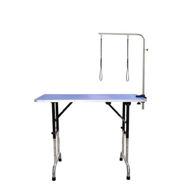 Hunde trimmebord XL højdejusterbart BLÅ +galge