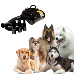 Hundeblower dobbeltmotor til større hunde SORT