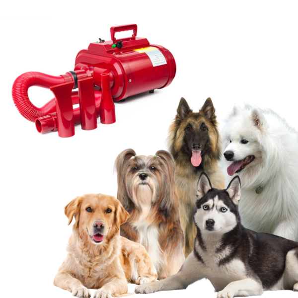 Hunde blower dobbeltmotor større hunde RØD