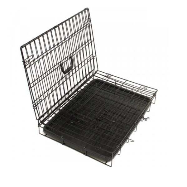 transportbur i stål sammenklappelig til hund