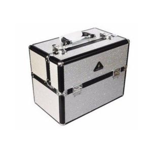 Hunde grooming kasse SØLV/GLITTER i aluminium