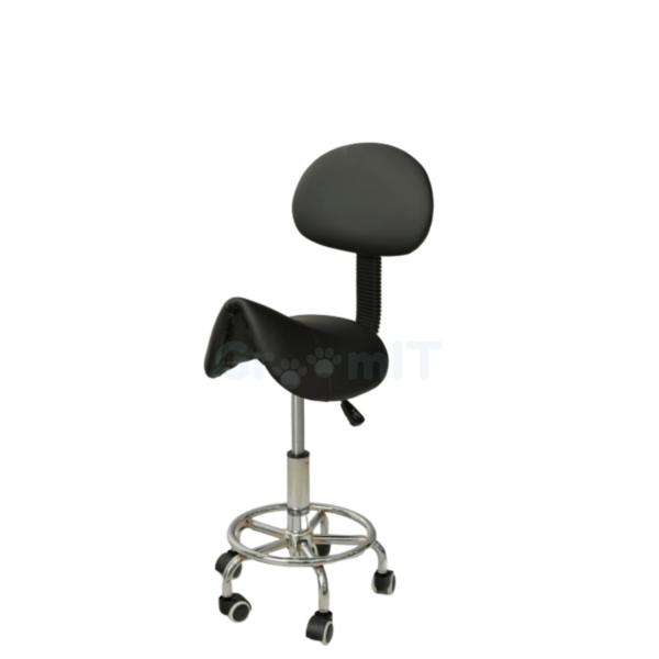 Sadelstol højdejusterbar sort ergonomisk arbejdsstol ryglæn