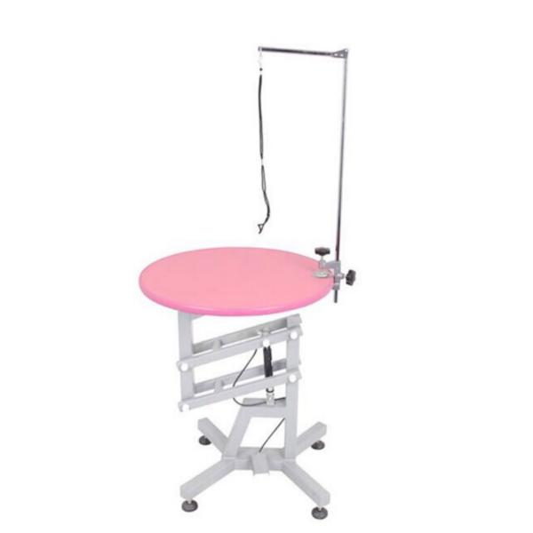 Trimmebord til hund hydraulik rundt lyserød