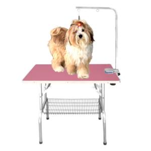 Hunde trimmebord udstillingsbord foldbart MEDIUM PINK