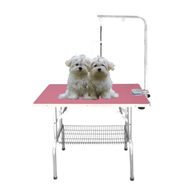 Hunde trimmebord udstillingsbord foldbart SMALL PINK