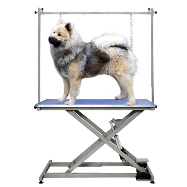 Trimmebord elektrisk til hunde dobbelt-løftearm BLÅ