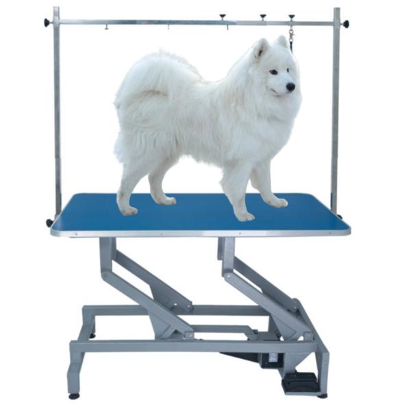 Elektrisk hundetrimmebord DOBBELT LØFTEARM BLÅ