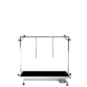 Elektrisk hunde trimmebord stor SORT/hvidt stel