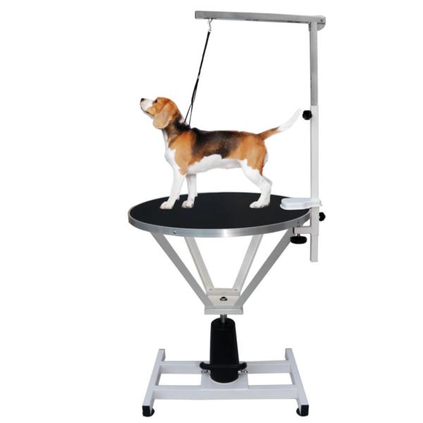 Trimmebord hund hydraulik rundt mellemstørrelse SORT