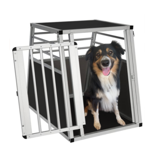 Transportbur hund aluminium til bil LARGE