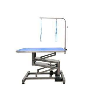 Elektrisk hundetrimmebord professionel brug MEDIUM blå
