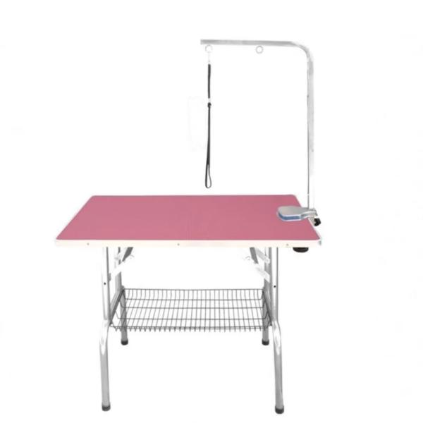 Hunde trimmebord udstillingsbord foldbart LARGE PINK