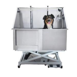 Hundebadekar elektrisk højdejusterbar stål stor hund