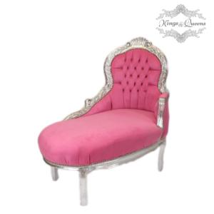 Hundechaiselong luksus kvalitet fra Kings&Queens pink
