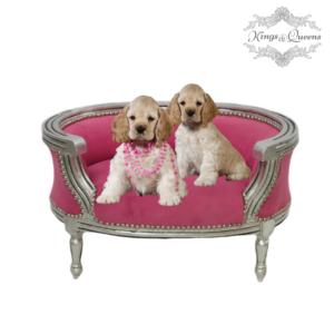 Hundeseng luksus kvalitet fra Kings&Queens pink