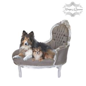 Hundechaiselong luksus kvalitet fra Kings&Queens grå