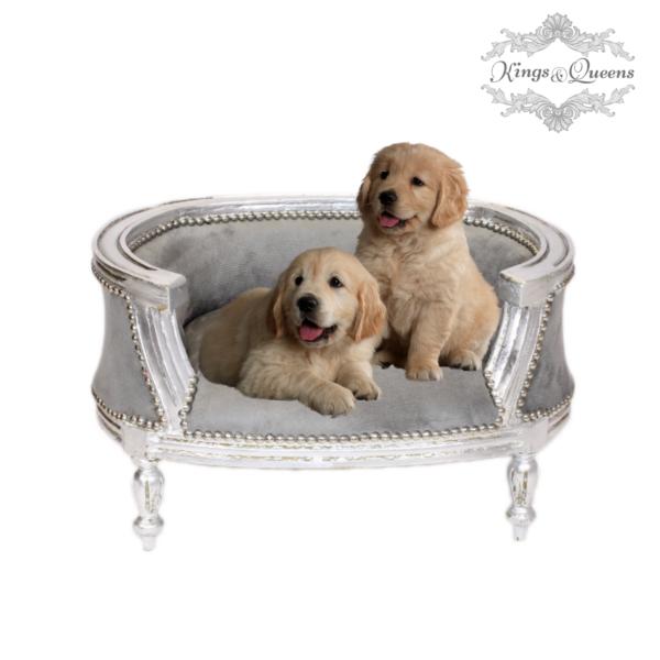 Hundeseng luksus kvalitet fra Kings&Queens grå
