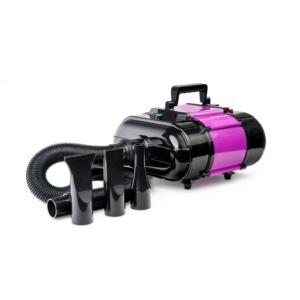 Hundeblower dobbeltmotor varm kold luft LILLA/SORT
