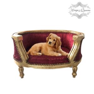 Hundeseng luksus kvalitet fra Kings&Queens rød