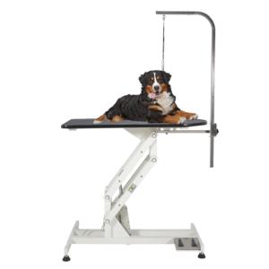 Stort elektrisk hunde trimmebord roterbar galge