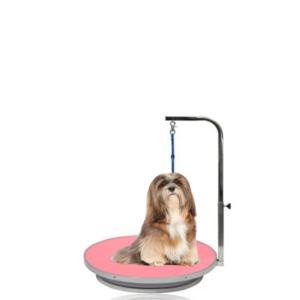Hundetrimmebord rundt +galge lille hund 55cm