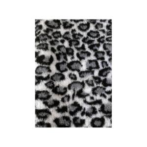 Hunde vetbed grå leopard mønster 75x100cm