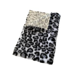 Hunde vetbed grå leopard mønster 100x150cm