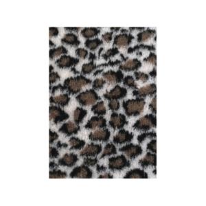 Hunde vetbed grå brun leopard 100x150cm