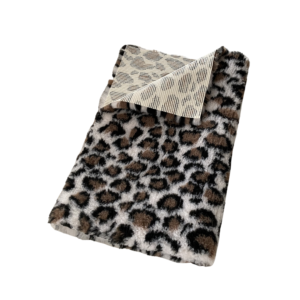 Hunde vetbed grå brun leopard 75x100cm
