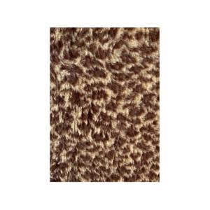 Hunde vetbed brun leopard mønster 100x150cm