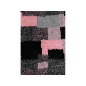 Hunde vetbed grå/sort rosa tern 75x100cm