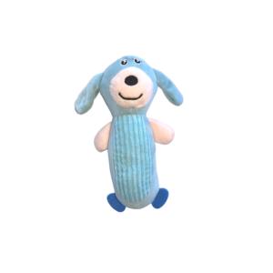 Hundelegetøj lyseblå bamse med piv 13x23cm