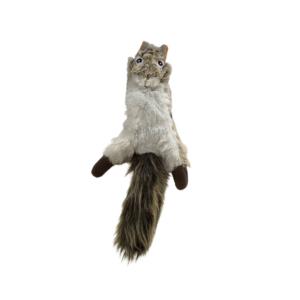 Hundelegetøj plys egern med piv 35cm