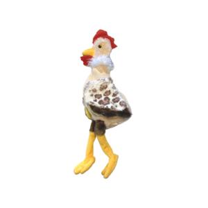 Hundelegetøj plys kylling med piv 35cm