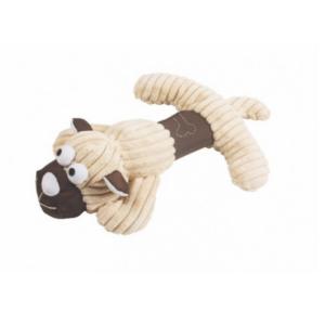 Hundelegetøj sandfarvet hund med piv 36x22cm