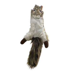 Hundelegetøj plys egern med pivelyd 50cm
