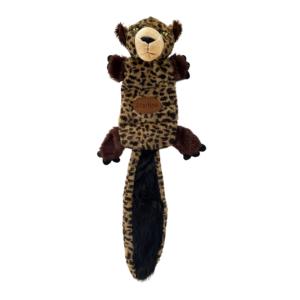 Hundelegetøj plys leopard knitrende hale 56x20cm