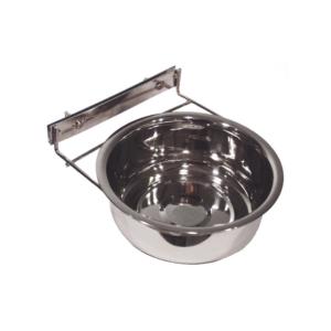 Madskål vandskål stål til ophængning hundebur
