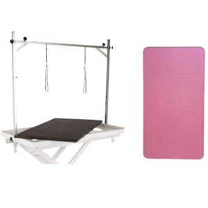 Ekstra bordplade elektrisk trimmebord hvidt stel