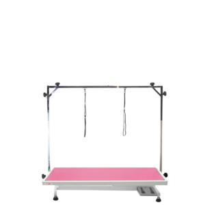 Elektrisk hunde trimmebord stor PINK/hvidt stel
